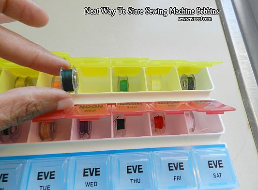 Neat Way To Store Sewing Machine Bobbins
