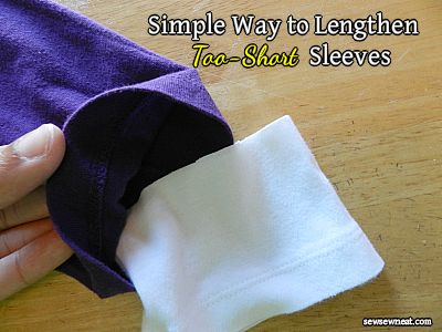 Simple Way to Lengthen Too-Short Sleeves